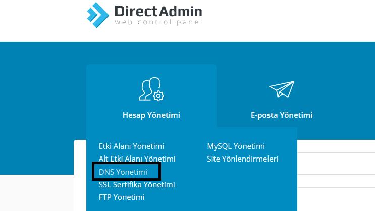 DNS kaydı ekleme