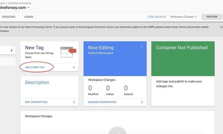 Google Tag Manager yeni etiket ekleme