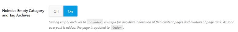 noindex boş kategori