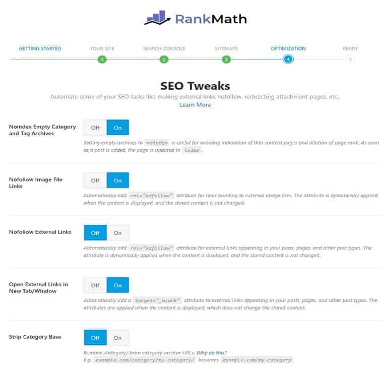 rank math optimizasyon