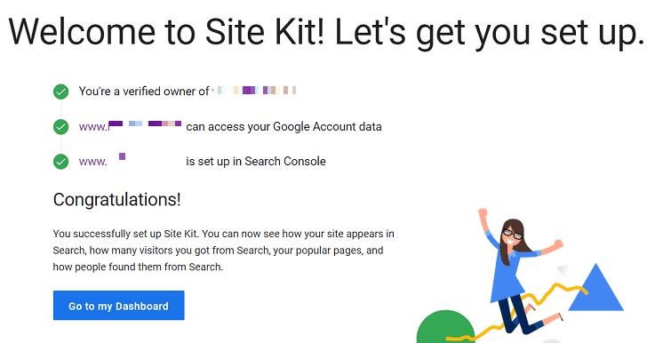 google site kit kurulum bitişi