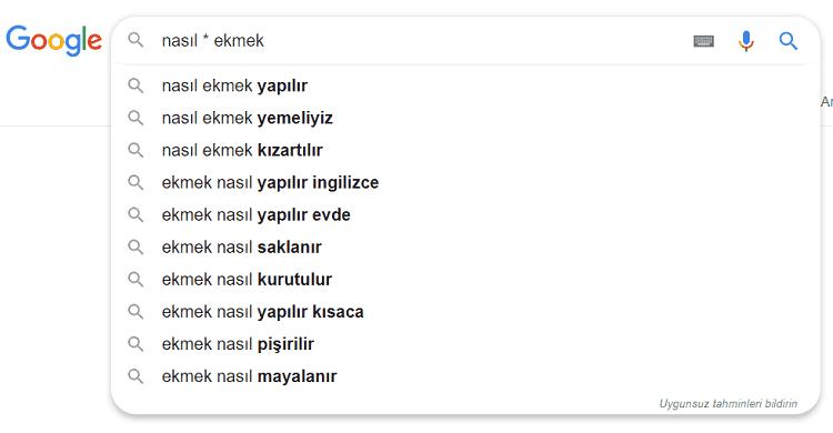 Google anahtar kelime analizi