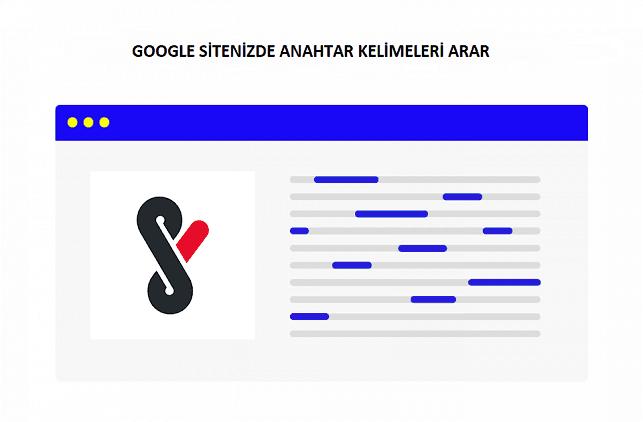 google site içi anahtar kelime taraması