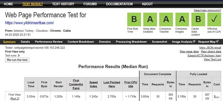 webpageorg hız testi