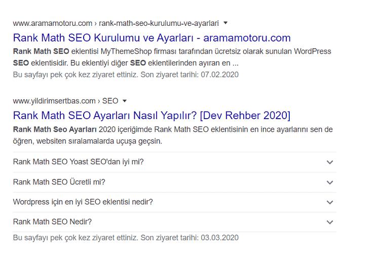google serp görüntüsü