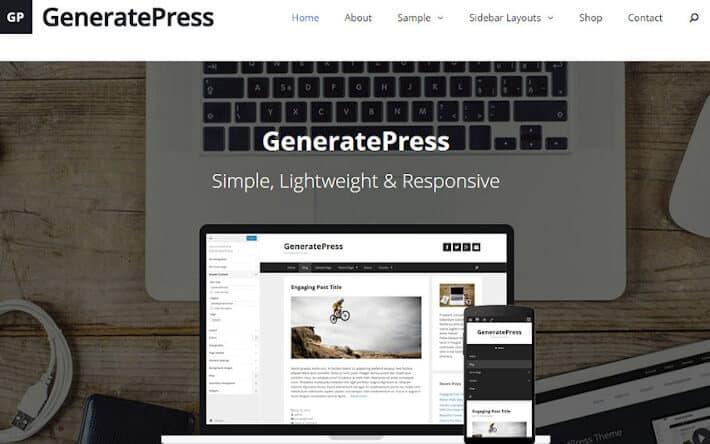 Generate WordPress teması