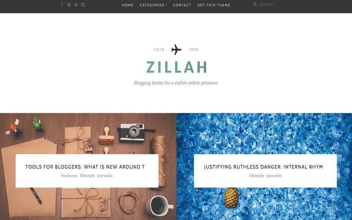 Zillah Seo Uyumlu WordPress Teması