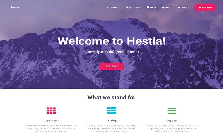 Hestia - WordPress teması
