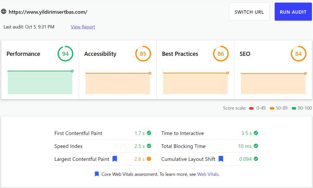 webdev seo audit sonucu