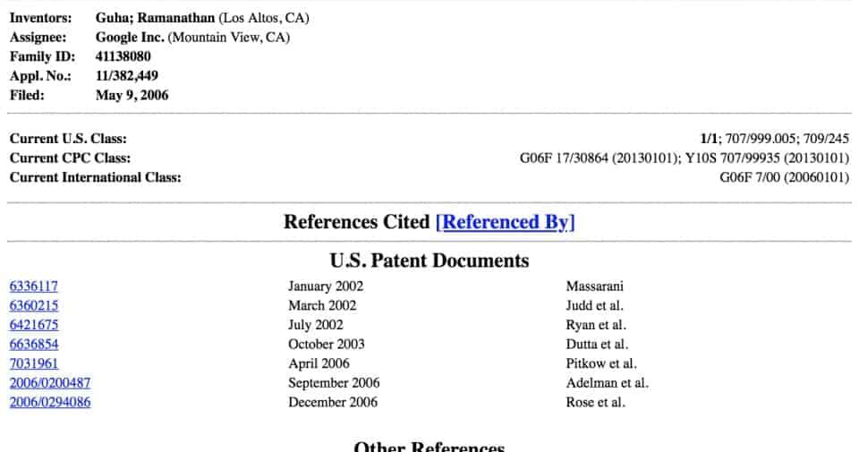 trustrank google patent