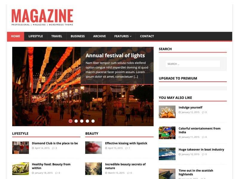 MH Magazine WordPress teması