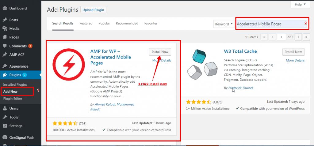 AMP For WP wordpress eklentisi