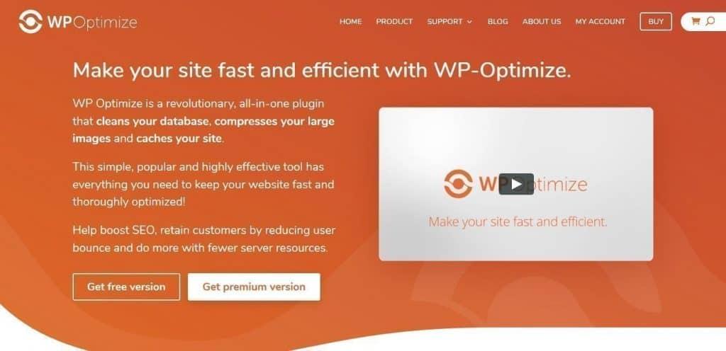 WP Optimize WordPress eklentisi