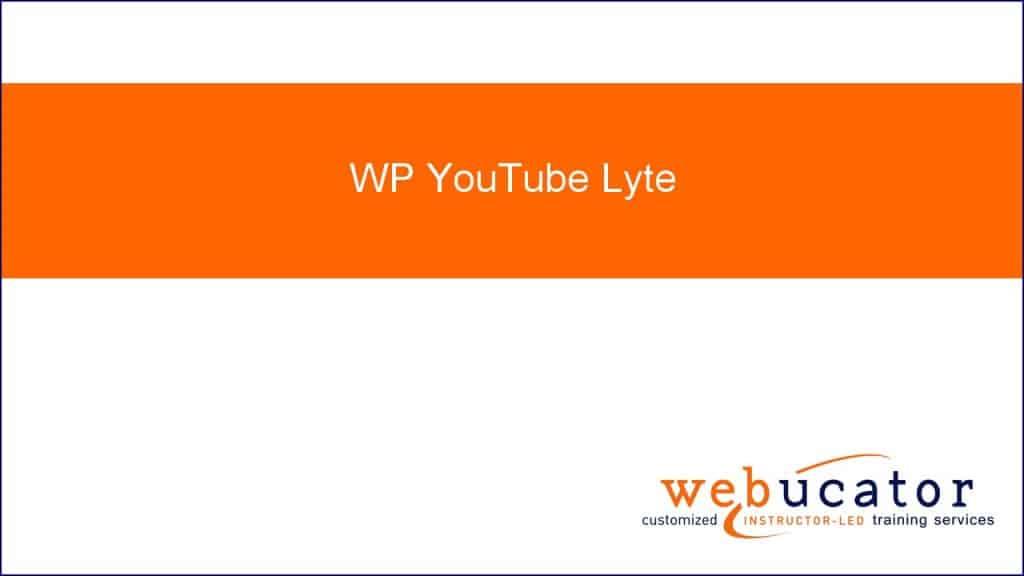 WP YouTube Lyte wordpress eklentisi