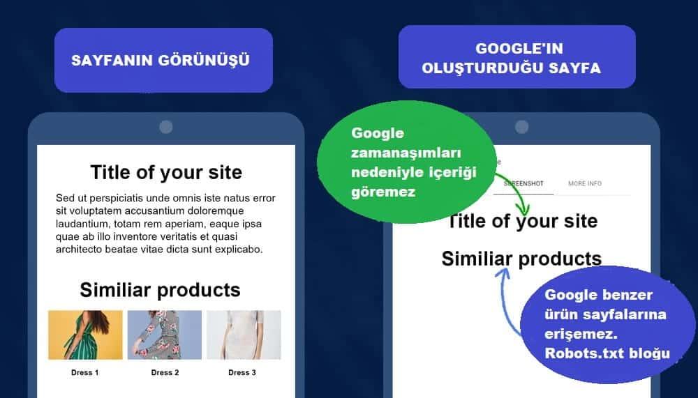 google sayfayı düzgün oluşturma hatası